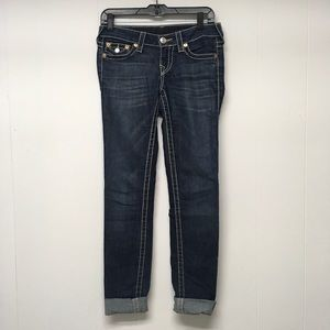 True Religion Skinny Jeans 26 Big T Earthworm